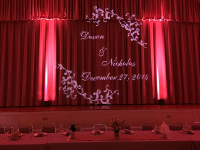 Custom Lighted Wedding Monogram at St Petersburg Womens Club