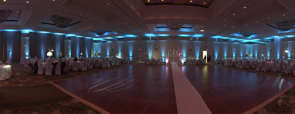 #MichaelAnthonyProductions# UpLighting #Grand Hyatt #ArabWedding#BlueLighting#WeddingLighting